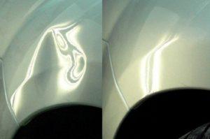 Удаление вмятин кузова автомобиля без покраски